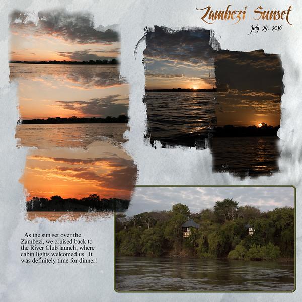 Life along the River; Zambezi Sunset