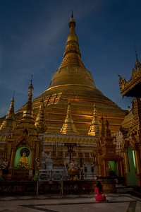 Prayer at the Shwedagon (Golden) Pagoda