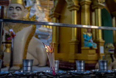 Incense at the Shwedagon (Golden) Pagoda