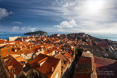 The View from Atop the Dubrovnik Old Town Walls