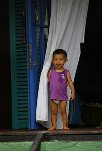 The neighbors in one of the villas had the most adorable kid ever