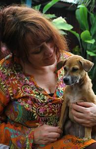 Me and Annie's rescue puppy Sawa