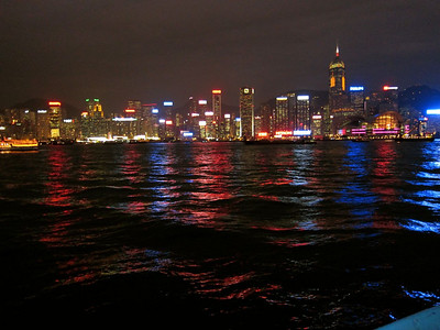 Twilight on Hong Kong Harbor