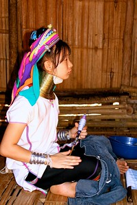 CHIANG RAI- Visits to the long neck hlll tribes, an incredible lunch and checkin at our 5 star hotel  LEGEND CHIANG RAI  In the late afternoon and  evening we headed up the mountains to visit a stunning tea plantation at dusk  LONG NECK HILLTRIBE NORTHERN THAILAND/CHIANG RAI