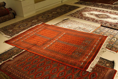The hand loomed rug that wanted to come home with us
