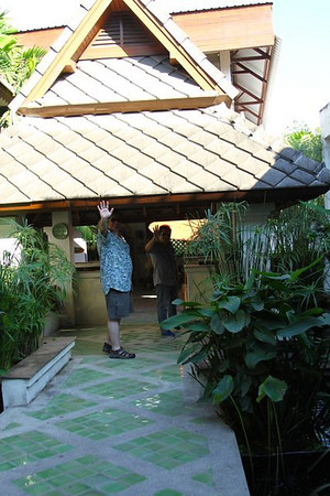 Steve and Ek heading into Baan Celadon.  I love this pottery