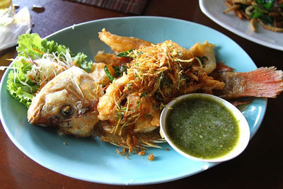 This fish was delicious!!  The green chili sauce hot and perfect