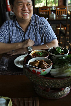 """This plate full of Thai goodness disappeared in no time .  Ek knows what we like...no """"tourist"""" food....we want what the locals eat"""