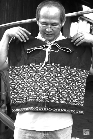 Sergeant Kai our guide, modeling a handwoven shirt