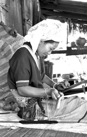 Weaver in one of the remote villages