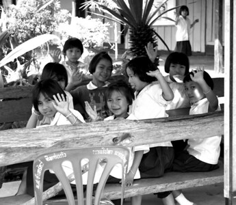 The school kids in one of the villages