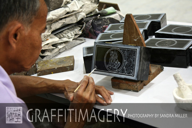 Lacquerware factory in Chiang Mai Thailand