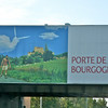NOTE THE CLOUD FORMATION IN THE SIGN<br /> Driving from Beaune France to Chateuneuf Du Pape