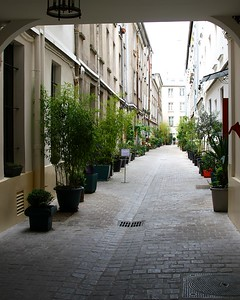 A TUCKED IN ALLEY FULL OF QUAINT APARTMENTS 5-13-13 PARIS A stroll around the area of our hotel