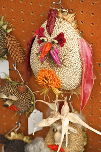 Pumpkin Ridge Garden with their whimsical bird feeders