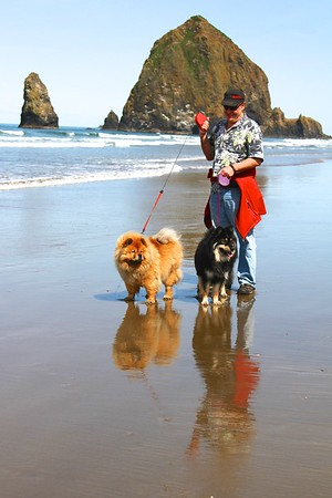 Steve , Lil and Onni  May 12, 2014 Cannon Beach Oregon
