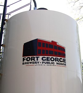 Fort George Brewery...awesome food and beer on an outside patio.  PERFECT for an 80 degree day