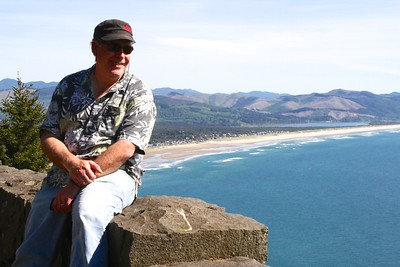Steve at the lookout just outside of Manzanita