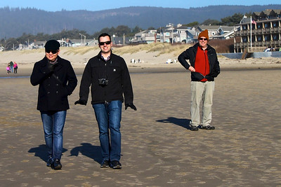A stunnine day at Cannon Beach Oregon in the 50's  with Ek, Joe , Steve and myself