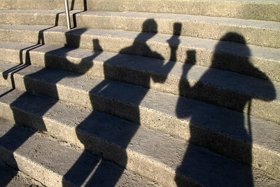 HAVING FUN WITH SHADOW PHOTOS...CHEERS! A stunning day at Cannon Beach Oregon in the 50's  with Ek, Joe , Steve and myself