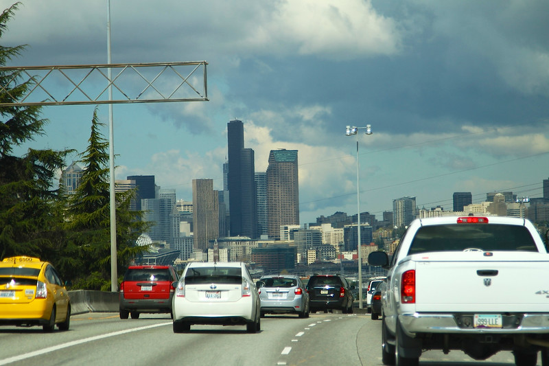 Arriving in SEattle on a beautiful spring day