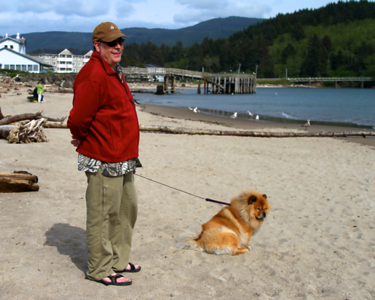 A boy and his dog!!! I love this!   That was Mos Chowder house in the white building attached to the pier