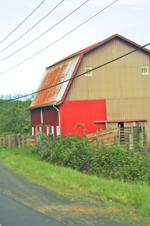 INTERESTING BARN...is this the start of a new paint job???