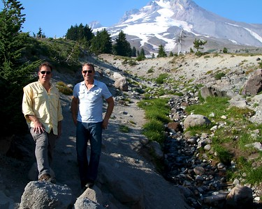 Steve and Paul at Timberline Lodge Mt. Hood Oregon