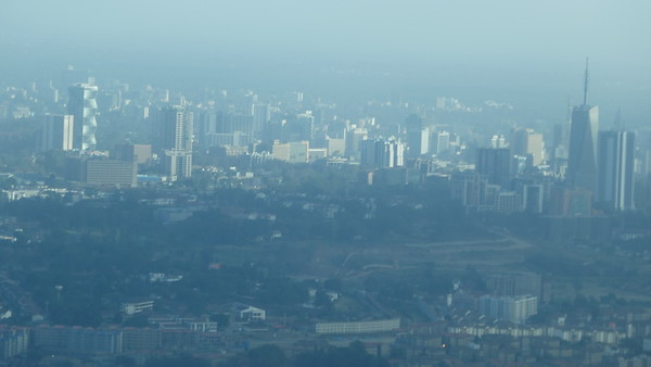Downtown Nairobi from the air