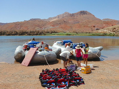 Our rafts...each custom designed and built raft holds 14 plus 2 crew members.