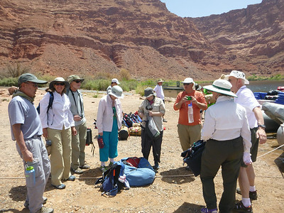 June 14th - after 5 hour bus ride from Vegas to Lee's Ferry - we're loading the rafts.  Each has 14 passengers and 2 crew.