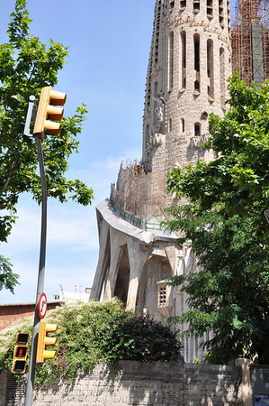 In 1926, at 73, he was run over by a Barcelona streetcar. Only one of the 13 planned tubular towers and one transept of the church were completed when he died.