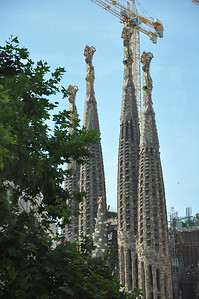 ANTONIO GAUDI: CHURCH OF THE HOLY FAMILY - Shell of a church, a landmark of Barcelona, occupied Gaudi throughout his career. He inherited the project in 1883, a year after construction had begun.
