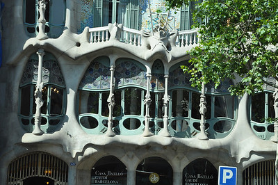 Gaudi's Casa Batllo in Barcelona...whimsy at its best!