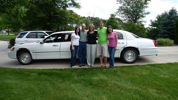 We were picked up by stretch limo at 2 on Saturday, June 26th