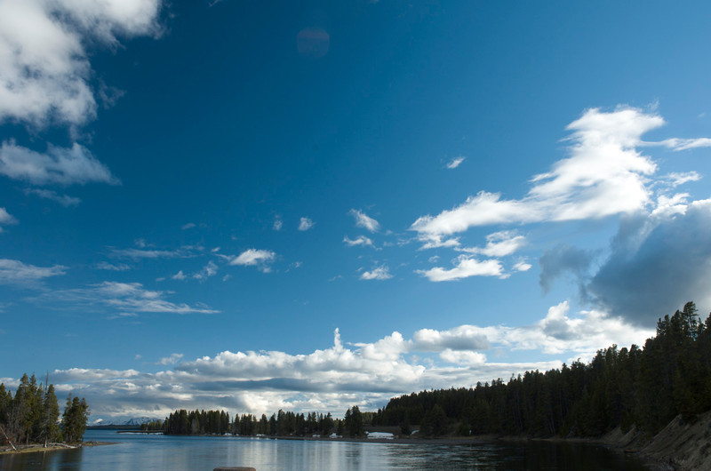 View from Fishing Bridge.  Yellowstone National Park.