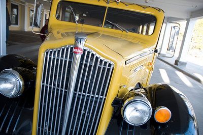 Not the ZZ Top mobile....a restored yellow bus used for park tours in Yellowstone.  Way cool car!
