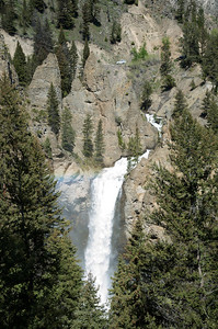 Tower Falls.  Northern part of Yellowstone National Park.  Check out the rainbow.
