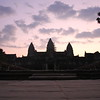 """The famous Ankor Wat Temple in Siem Reap Cambodia at 5 am<br /> <br /> """"Security guards"""" let me climb to the very top of the temple after asking for a $.50 bribe"""