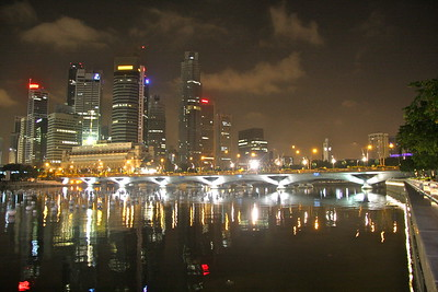 Downtown SIngapore at 4 am