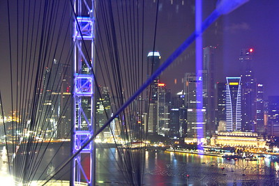 Downtown Singapore seen thru the Singapore Flyer/Ferris wheel thingy