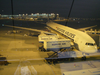 Stopping at the Incheon Airport in Seoul, South Korea for food and gas