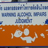 funny sign on Ko Phi Phi Islands in Southern Thailand