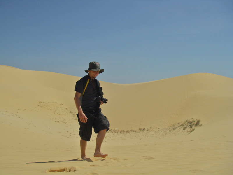 hiking across the sand dunes at Mui Ne Vietnam