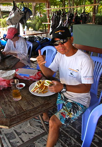 Trang, owner of Windchimes Kiteboarding School in VIetnam...  Hooked me up with kiting gear every day and dinner and parties every night. awesome time