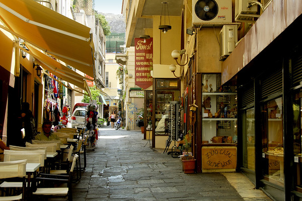 THE STREETS OF ATHENS, GREECE