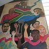 Mural in the Regina Mundi Church - Soweto