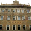 Painted building facade in Stare Mesto
