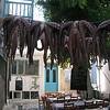 Octopus outside a restaurant, Naxos