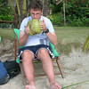 Richard drinking from a coconut - Koh Chang